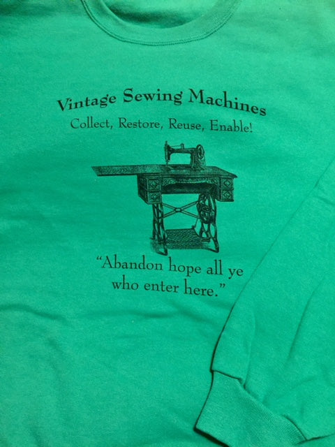 Crew Neck Sweatshirt - Irish Green Size XL - Woodland Quiltworks, LLC