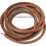 "Treadle Belt 3/16"" - Leather with Closing Staple: Treadle & Industrial Sewing Machines - Woodland Quiltworks, LLC"