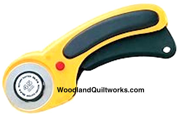 Ergonomic OLFA 45mm Self-Retracting Rotary Cutter - Woodland Quiltworks, LLC