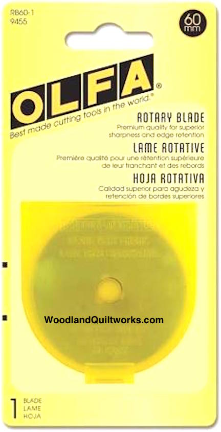 OLFA 60mm Replacement Blade - Quantity (1) - Woodland Quiltworks, LLC