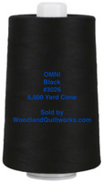 Superior Threads® OMNI™ #3026 Black 6,000 Yard Cone - Woodland Quiltworks, LLC