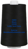 Superior Threads® OMNI™ #3026 Black 6,000 Yard Cone