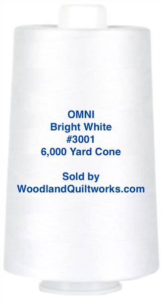 Superior Threads® OMNI™ #3001 Bright White 6,000 Yard Cone