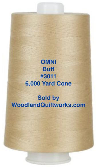 Superior Threads® OMNI™ #3011 Buff 6,000 Yard Cone - Woodland Quiltworks, LLC