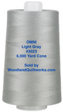 Superior Threads® OMNI™ #3023 Light Gray 6,000 Yard Cone - Woodland Quiltworks, LLC