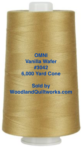 Superior Threads® OMNI™ #3042 Vanilla Wafer 6,000 Yard Cone