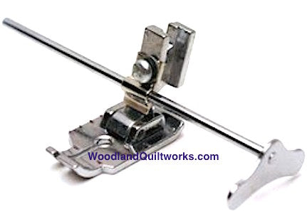 "1/4"" Foot with Quilting Guide Bar - Low Shank Machines - Woodland Quiltworks, LLC"