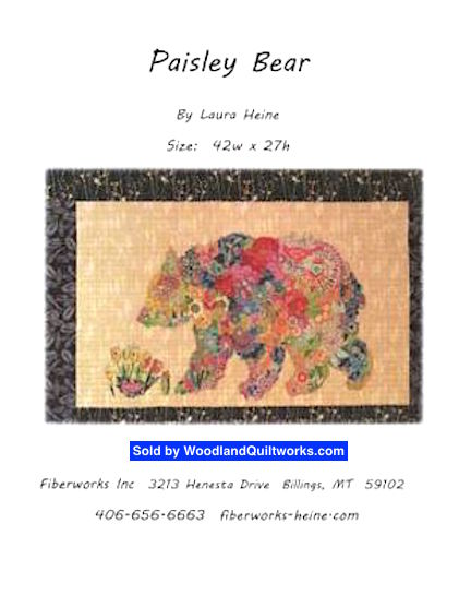 Paisley Bear Pattern by Laura Heine - Woodland Quiltworks, LLC