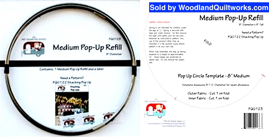 "Medium Pop-Up Pattern Refill Spring 8"" - Woodland Quiltworks, LLC"