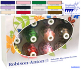 Robison-Anton Gift Set 40wt Super Strength Rayon - 12 Spools GGR2022 - Woodland Quiltworks, LLC