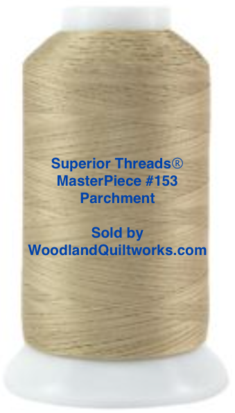 Superior Threads® MasterPiece #153 Parchment #50/3-Ply 2,500 Yard Cone. - Woodland Quiltworks, LLC