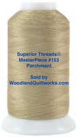 Superior Threads® MasterPiece #153 Parchment #50/3-Ply 2,500 Yard Cone.