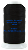 Superior Threads® MasterPiece #161 Raven #50/3-Ply 2,500 Yard Cone.