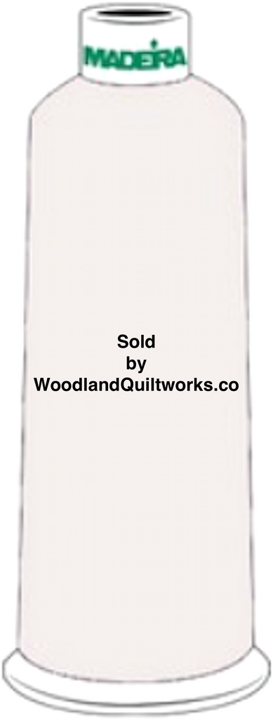 Madeira Burmilana Wool #12 Thread : Color 813-3891 White - Woodland Quiltworks, LLC