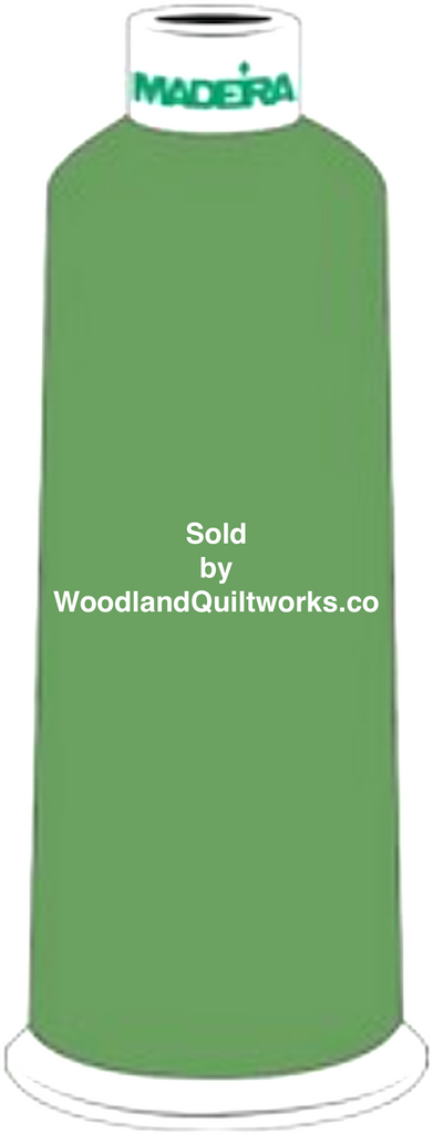 Madeira Burmilana Wool #12 Thread : Color 813-3940 Green - Woodland Quiltworks, LLC