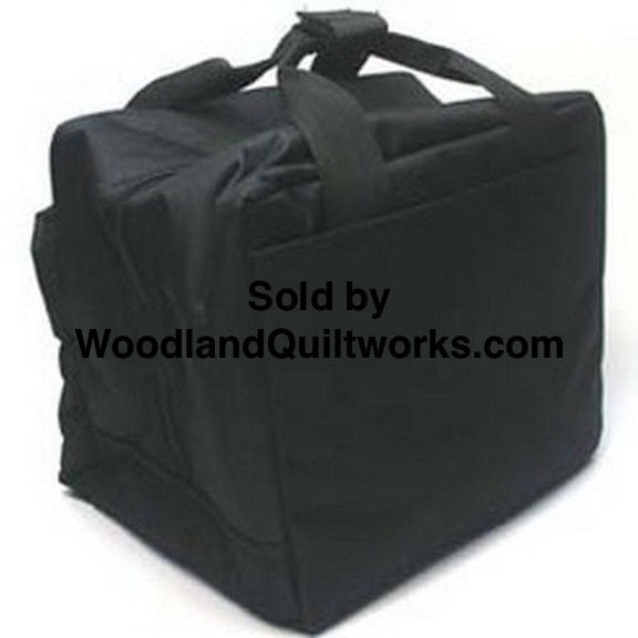 Singer Featherweight 221 / 222 Reinforced Soft Carry and Storage Case - Black - Woodland Quiltworks, LLC