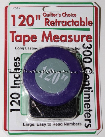 "Retractable Measuring Tape 120"" - Woodland Quiltworks, LLC"