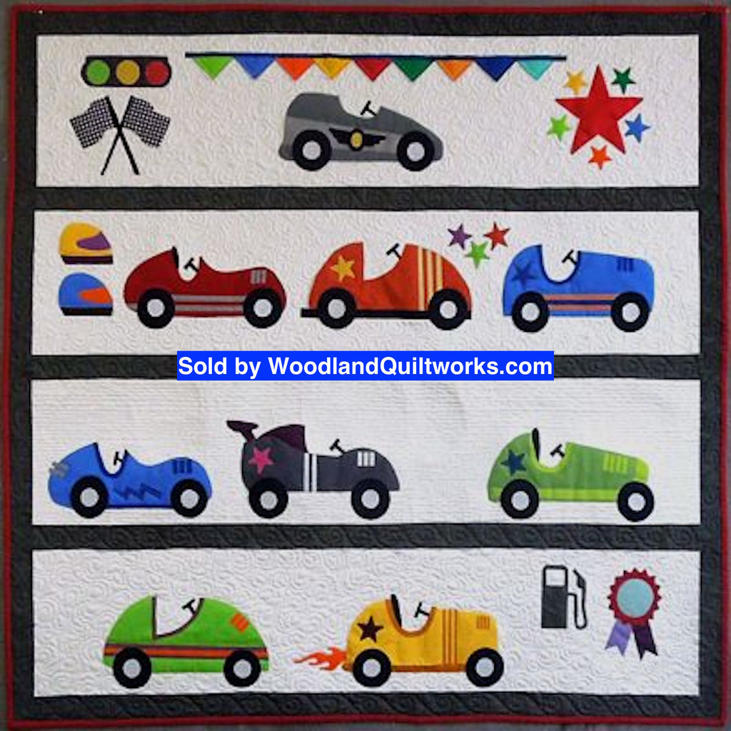 Start Your Engines Quilt Pattern by Karen Bennett - Woodland Quiltworks, LLC
