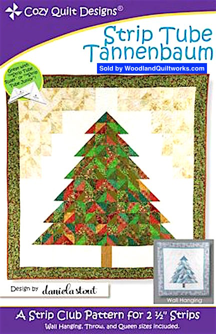 Strip Tube Tannenbaum Pattern by Daniela Stout - Woodland Quiltworks, LLC