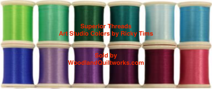 Superior Threads® Art Studio Colors by Ricky Tims - Flower Garden Set 12 Spools from the #300 Series - Woodland Quiltworks, LLC