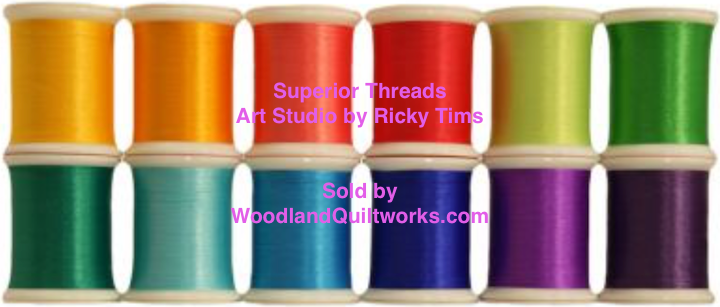 Superior Threads® Art Studio Colors by Ricky Tims - Rain Forest Set 12 Spools from the #200 Series - Woodland Quiltworks, LLC