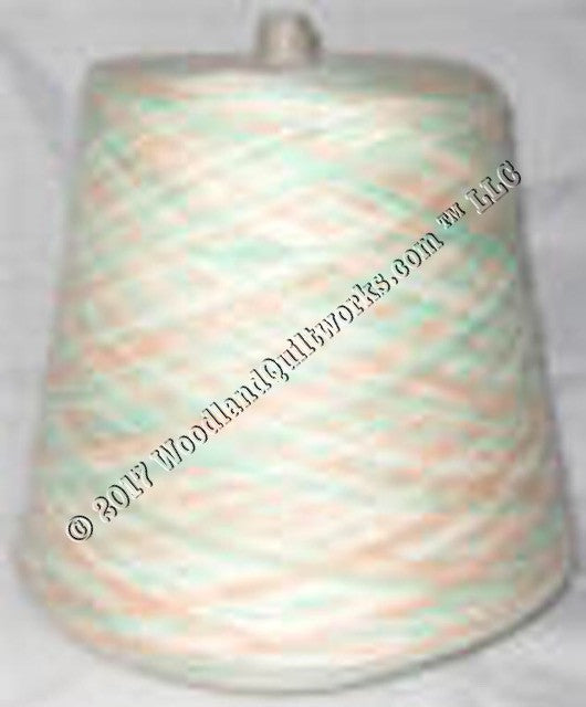 Knitting / Crochet Yarn - Bebe Tamm Color Combos & Variegated T3783 PEACH & MINT VARIEGATED - Woodland Quiltworks, LLC