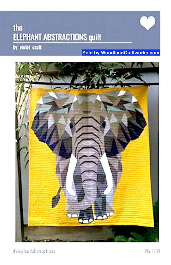 The Elephant Abstractions Quilt by Violet Craft - Woodland Quiltworks, LLC