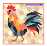 The Rooster English Paper Piecing by Violet Craft