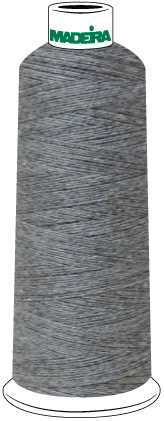 Madeira Burmilana Cotton #12 Thread : Color 816-3253 Grey Melange - Woodland Quiltworks, LLC