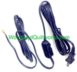 Power Lead Cord 3 Prong Portable - Necchi Supernova, Pfaff 130 230 330 332 (Old Style) - Woodland Quiltworks, LLC