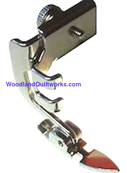 Zipper Foot - Adjustable, Hinged, Low Shank - Woodland Quiltworks, LLC