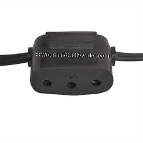Singer Power Cord Double Lead - Featherweight and Many 15, 200, 300, 400, and 1200 Series Models - Woodland Quiltworks, LLC