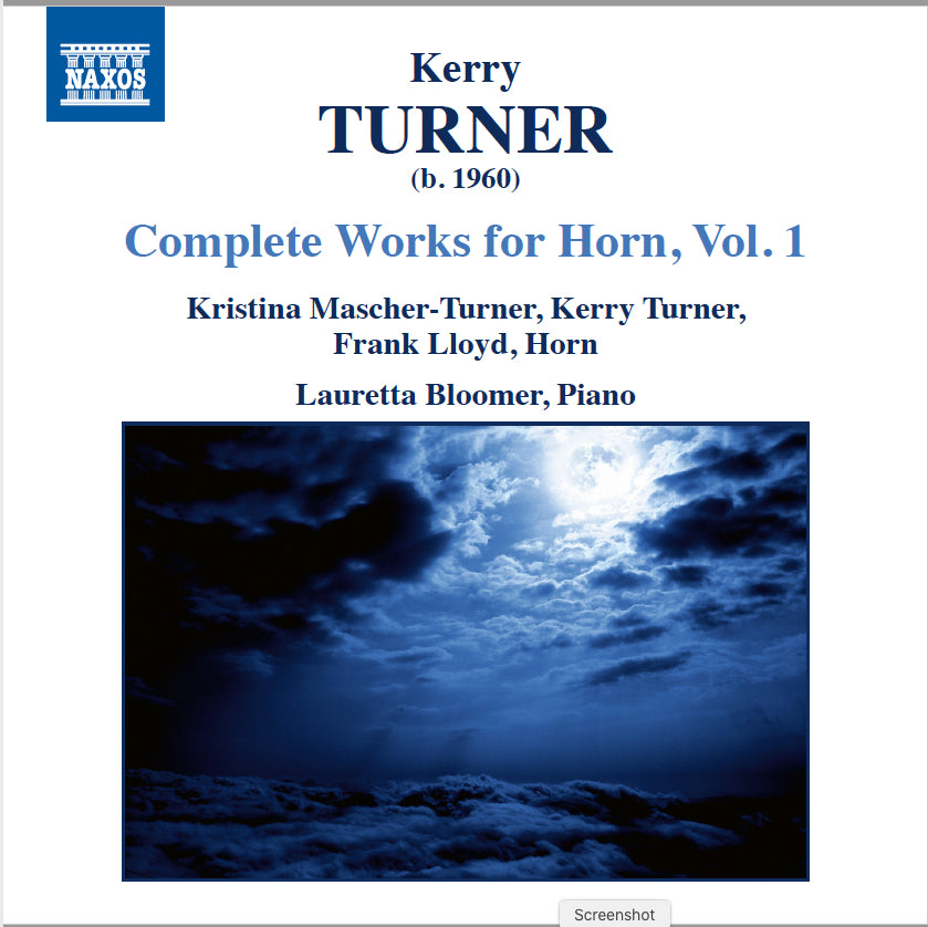 Kerry Turner - Complete Works for Horn, Vol. 1 - CD