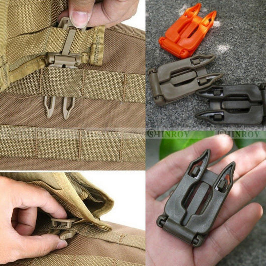 5 Pcs Molle Strap EDC Outdoor Equipment Backpack Webbing Buckle Clip