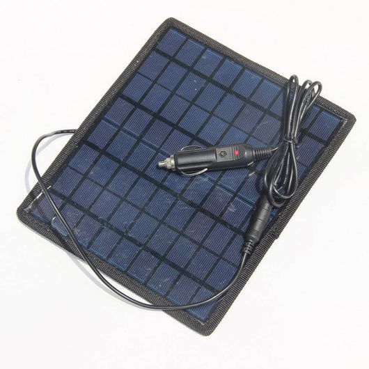New 5.5W 18V Portable Solar Panel - Charger Backup For 12V Car Boat Battery