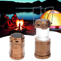 Collapsible Solar Outdoor Rechargeable Camping Hiking Fishing Lantern Light LED Hand Lamp