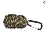 EDC GEAR Carabiner Grenade 550 Paracord Survival Kit Fishing Kit with Fire Starter and Sharp Eye Knife