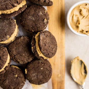 Plant Based Protein+ - Macro Mike - Peanut Butter Stuffed Choc Cookie Sandwiches | MAK Fitness
