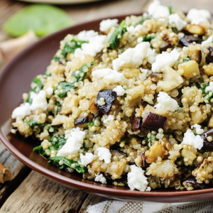 Roasted Eggplant Salad With Quinoa