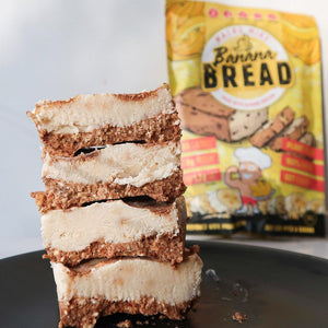 Banana Bread Mix - Macro Mike - Banana Bread Cheesecake Slice | MAK Fitness