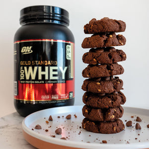 Chocolate Peanut Butter Protein Cookies - Gold Standard 100% Whey by Optimum Nutrition | MAK Fitness