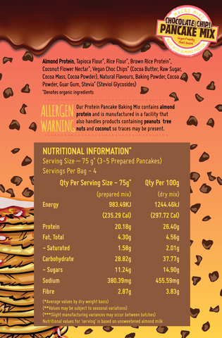 Chocolate Chip Pancake Mix Nutritional Information - Macro Mike | MAK Fitness