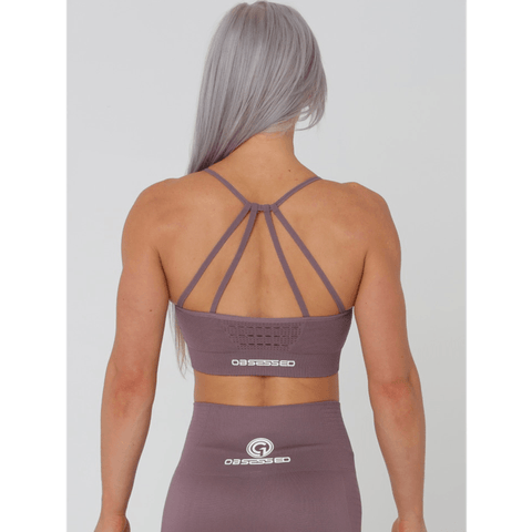 Aurora Crop Sports Bra - Mauve by Obsessed Gymwear | MAK Fitness