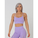 Aurora Crop Sports Bra - Lilac by Obsessed Gymwear | MAK Fitness