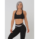Dakota Crop Sports Bra - Black by Obsessed Gymwear | MAK Fitness