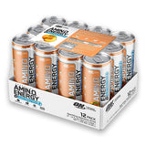 Amino Energy + Electrolytes Sparkling RTD 12 Pack - Peach Bellini - Optimum Nutrition | MAK Fitness