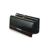 Genuine leather multifunction wallet serpentine luxury clutch