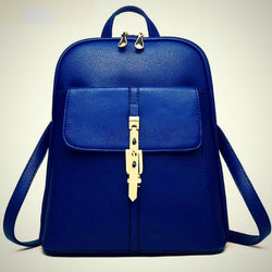 Women backpack women's travel leather bag