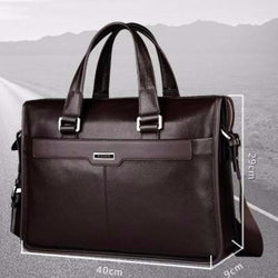 Genuine leather luxury briefcase business style