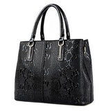 Snake pattern PU leather tote bag